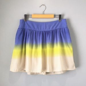 Jessica Simpson Ombré Blue Yellow Skater Skirt